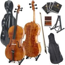 Violonchelo Chelo Cecilio Cco-600 Cello 4/4 + Accesorios Hm4