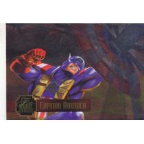 1995 Flair Marvel Annual Powerblast Captain America #14