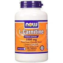 Now Foods L- Carnitina Tartrato 1000mg 100 Comprimidos