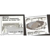 Estampillas Futbol Mexico 86, Emitidas 1985 Vbf
