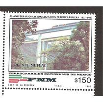 Estampilla Ferrocarriles Nacionales 1987 Vbf