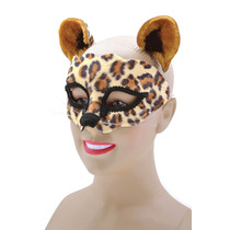 Disfraz Leopardo - Máscara Ladies Animal Salvaje Gato Set O