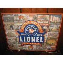 Lamina Decorativa De Trenes Lionel Letrero
