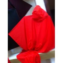 Impermrable Economico Rojo Tipo Poncho Calibre 2-3