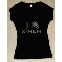 Playera I Love Xmen Wolverine Comic Dama