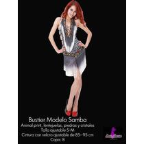 Bustier Profesional Animal Print Para Danza Arabe Bellydance