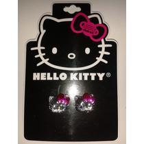 Aretes Cara Cristal Hello Kitty Sanrio! Regalo