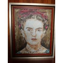 Pintura Frida Khalo Oleo Sobre Tela: Oscar Ramírez