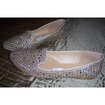 Zapatos Num 4 Color Oro Y Aplicaciones Marca Urban De Cklass