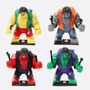 4 Hulk 7.5cm Hulk Rojo Verde Gris Amari Compatibles Con Lego