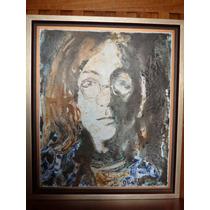 Óleo John Lennon Autor Oscar Ramírez