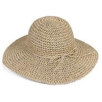 Wowlife Para Mujer De Ala Ancha De Ganchillo Sombrero De Paj
