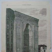 Donceles. Litografia Nicho De Entrada De La Mezquita.