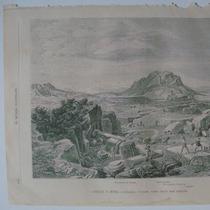 Donceles Litografia Grecia, Corintio Vista Desde Cantera
