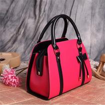 Bolso Para Mujer Rosa Bolsa De Cuero Moda Casual