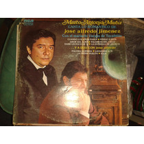 Disco Acetato: Marco Antonio Muñiz & Jose Alfredo Jimenez