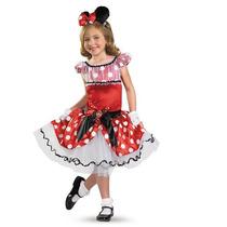 Disfraz Disney Minnie Mouse Mimi Vestido Tutu Prestigio Lujo