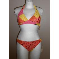 Decree!!! Moderno Bikini Naranja Con Amarillo, Talla Ch