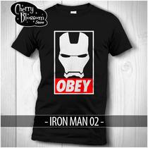 Playeras Iron Man Obey Civil War Avengers Tony Stark Marvel