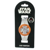 Star Wars The Force Awakens Bb-8 Reloj De Pulsera Led Disney