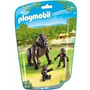Playmobil 6639 Animales Zoo Gorila Con Crias Bebe Safari Js