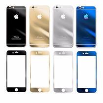 Mica Cristal Templado Iphone 6 6 Plus Colores Front+back