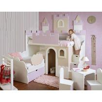 Litera Infantil Castillo Incluye Mesa Y 2 Sillas