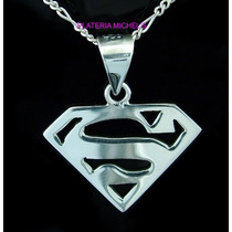 Dije De Superman Chico En Plata Ley 0.925