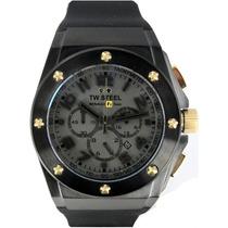 Reloj Tw Steel Ceo Rf1 Negro Tw684, Caucho, Garantia Hm4