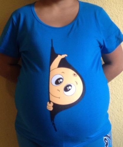9d96f99ab Blusas Playeras De Maternidad Embarazo Embarazada Baby Showe (Manga ...