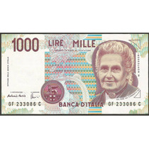 Grr-billete De Italia 1000 Liras 1990 - Maria Montessori