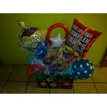 Arreglo Para Cumpleaños ,centros De Mesa, Globos