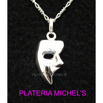 Dije De Mascara Del Fantasma De La Opera Plata Ley 0.925 Vv4
