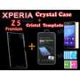 Funda Protector Crystal Case Xperia Z5 Premium + Cristal Tem