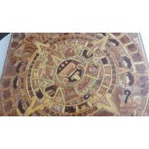 Mesa Artesanal Calendario Azteca Hecha A Mano Maderas Finas