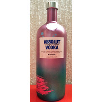 Botella De Absolut Unique. Edición Limitada