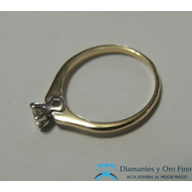 Anillo De Compromiso Solitario Diamante Natural .18 Ct