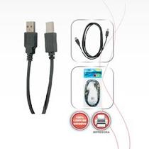 Cable Para Impresora 1.8 Mt., 4 Mm Usb A Macho Usb B Macho