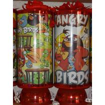 Angry Birds Recuerdos Centros De Mesa Lamparas, 1de Regalo