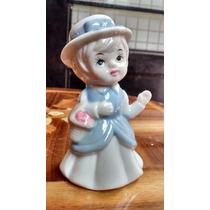 Niña Con Sombrero Figuras De Porcelana Española Antigua
