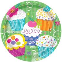 48 Platos Cupcake Party 9 Pulgadas Desechables De Carton