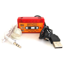 Reproductor Mp3 Player Tipo Shuffle Cassette Microsd Colores