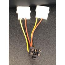 Cable Adaptador Poder 4-pin Molex Macho A 6-pin Pci-e Hembra