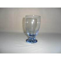 Vaso Tipo Copa Inter Color Para Agua De Cristal