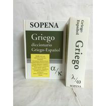 Diccionario Griego Español Griego 2 Vols Sopena