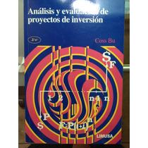 Analisis Y Evaluacion De Proyectos De Inversion, Coss Bu