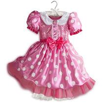 Hermoso Vestido Disfraz De Mimi Rosa Original De Disney Bbf