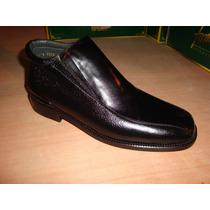 Zapato De Piel De Venado Y Ternera Color Negro