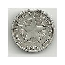 Moneda De Plata Cuba 10 Centavos (1915)
