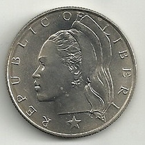 Moneda Liberia (1966) 50 Cents